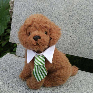 Gentleman Pet Dog Tie Grid Stripe Cat Bow