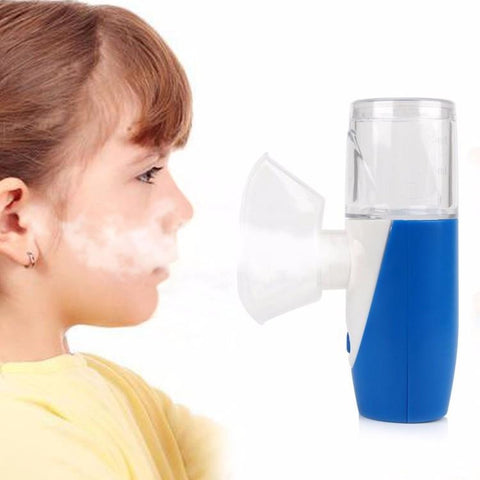 Image of Atomizer Inhaler Handhead Mini Ultrasonic Nebulizer Portable USB Rechargeable - AMAZOFFER