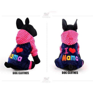 I love papa and mama winter Pet Dog Clothing For Pet Small Large Dog Coats Jackets