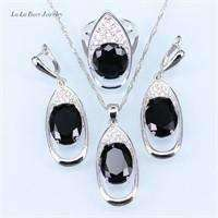 Handmade Silver color Jewelry Hollow Out  Water Drop With Imitation White Pearl Jewelry - AMAZOFFER