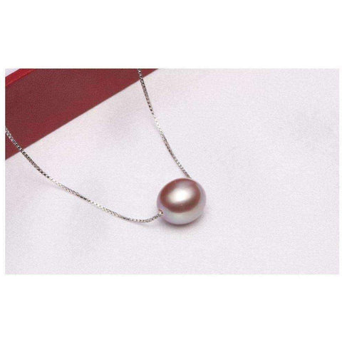 Image of Pearl Pendant Necklace for Women Gift Party 925 Sterling Silver 3 Colors White Black Pearl Jewelry - AMAZOFFER
