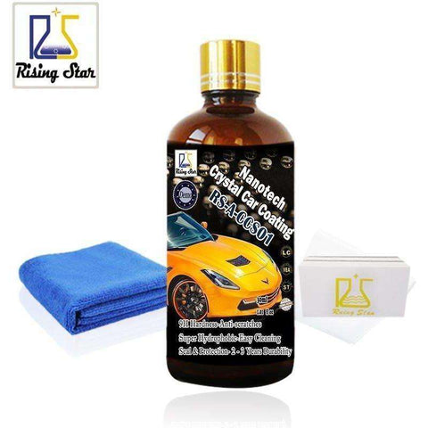 Image of Rising Star RS-A-CCS01 Liquid Glass 9H Nano Hydrophobic Ceramic Coating Car Care Wax - AMAZOFFER