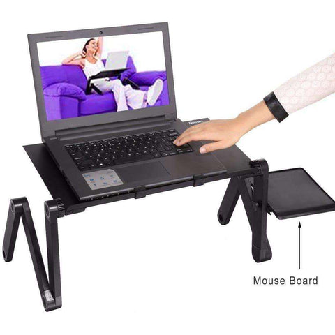 Image of Homdox Computer Desk Portable Adjustable Foldable Laptop Notebook Lap PC Folding Desk - AMAZOFFER