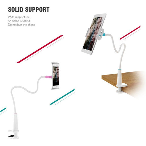 Image of Long Arm Tablet Holder Stand For Tablet and Phone - AMAZOFFER