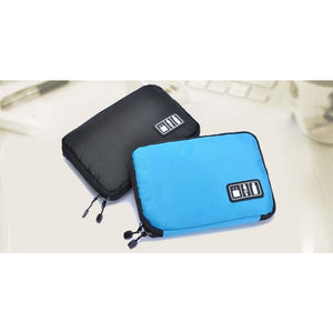 Electronic Accessories Bag Travel Digital Storage Bag Earphone Cables Flash Drives USB Organizers - AMAZOFFER