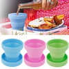 Portable Home Travel Camping Silicone Telescopic Drinking Collapsible Folding - AMAZOFFER