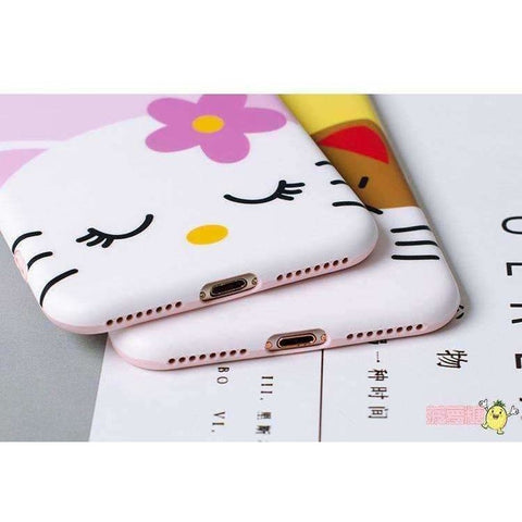 Image of Cute 3D lucky cat phone Cases For iphone X 6 6s 6plus 7 7Plus 8 8plus Cartoon monsters tiger toys soft silicon case - AMAZOFFER