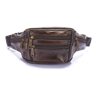 Men Oil Wax Travel Riding Motorcylce Hip Bum Belt Pouch Fanny Pack Waist Purse Clutch Bag  Travel Portable Bags