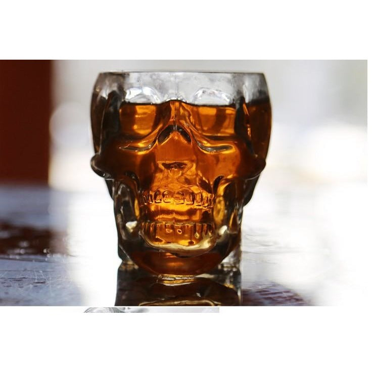 Magic Transparent Glass Skull Mugs for Vodka Wine Beer - AMAZOFFER