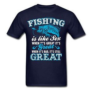 Fishinger Is Like Sex Funny Quote Men's T-Shirt