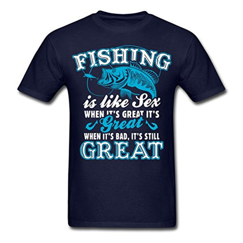 Image of Fishinger Is Like Sex Funny Quote Men's T-Shirt - AMAZOFFER