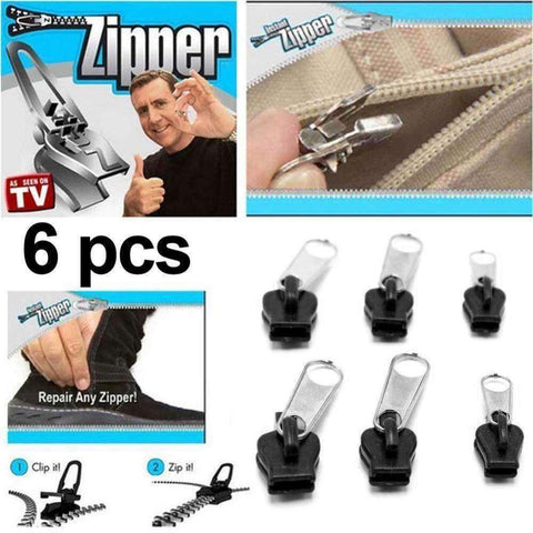 Image of New Hot TV 6Pcs Fix A Zipper Zip Slider Rescue Instant Repair Kit Replacement PML - AMAZOFFER