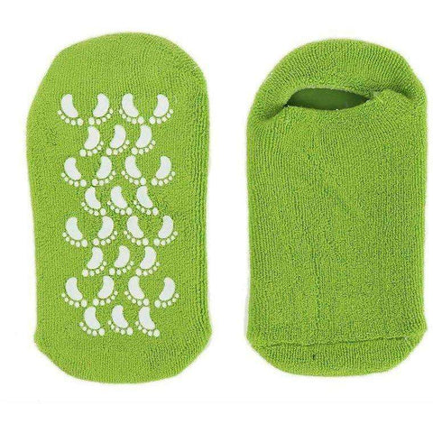 Image of Spa Moisturizing Gel Socks Exfoliating Dry Cracked Soft Skin Sock Pedicure Foot Care Tool - AMAZOFFER