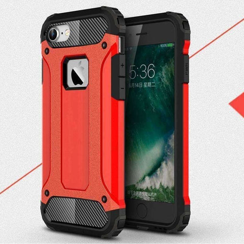 Armor Case for iPhone 8 Rugged Soft TPU Phone Back Cover for iPhone 5 5S SE 6 6S 7 X Plus Slim Military iPhone8 6Plus 7Plus - AMAZOFFER