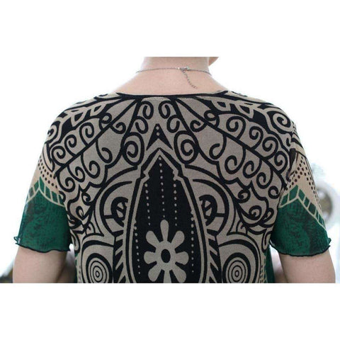 Image of Womens Fashion shirts Knit print short sleeve Ladies skirts G1 - AMAZOFFER