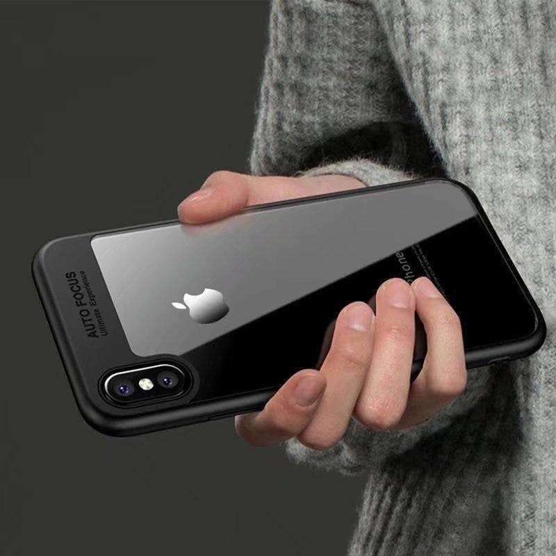 Luxury Phone Case for iPhone X Back Cover Clear Transparent Silicone Case for iPhoneX Cover On the for iPhone 6 6s 7 8 X PC Case - AMAZOFFER