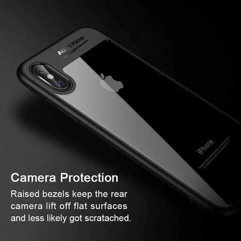 Image of Luxury Phone Case for iPhone X Back Cover Clear Transparent Silicone Case for iPhoneX Cover On the for iPhone 6 6s 7 8 X PC Case - AMAZOFFER