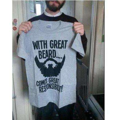 t shirt streetwear hip-hop funny Brand clothing with great beard - AMAZOFFER