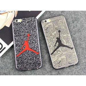 JAMULAR Jordan Silicone Slim Back Cover for iPhone X 6 6s 5S SE Skin NBA Phone Case For iphone 7 8 6 6S Plus Shell Bags Funda