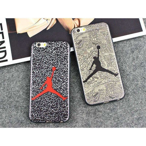 Image of JAMULAR Jordan Silicone Slim Back Cover for iPhone X 6 6s 5S SE Skin NBA Phone Case For iphone 7 8 6 6S Plus Shell Bags Funda - AMAZOFFER