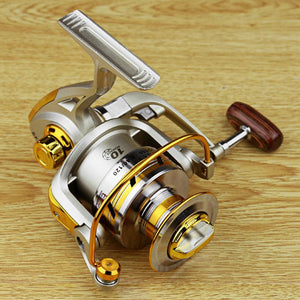 Metal Spinning Fishing Reels Fly Wheel For Fresh/ Salt Water Fishing Tool Accessories - AMAZOFFER