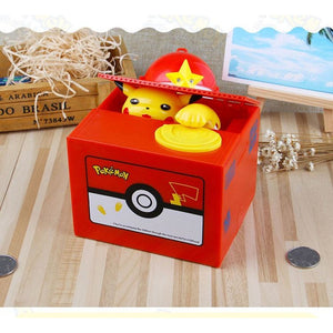 Aadorable Pokemon Pikachu Money Box  Piggy Bank Music Box Miniature Christmas Gifts - AMAZOFFER