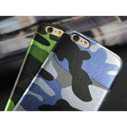 Clespruce Army Camo Camouflage Leather Back Cover Case For iphone x 8 7 6 6s Plus 5s SE Fundas Luxucy Phone Case For iphone X 8 Plus - AMAZOFFER