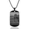 Custom Necklace Pictures Image Pendant Necklace Engrave Your Photo On Necklace Stainless Steel ID Tag Necklace - AMAZOFFER