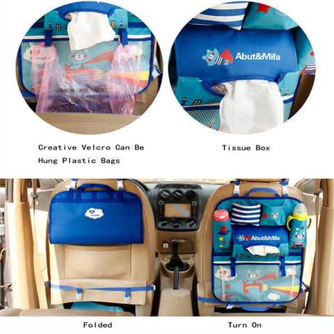 Cartoon Car Seat Back Storage Hang Bag Organizer Car-styling Baby Product Varia Stowing Tidying Automobile Interior Accessories - AMAZOFFER