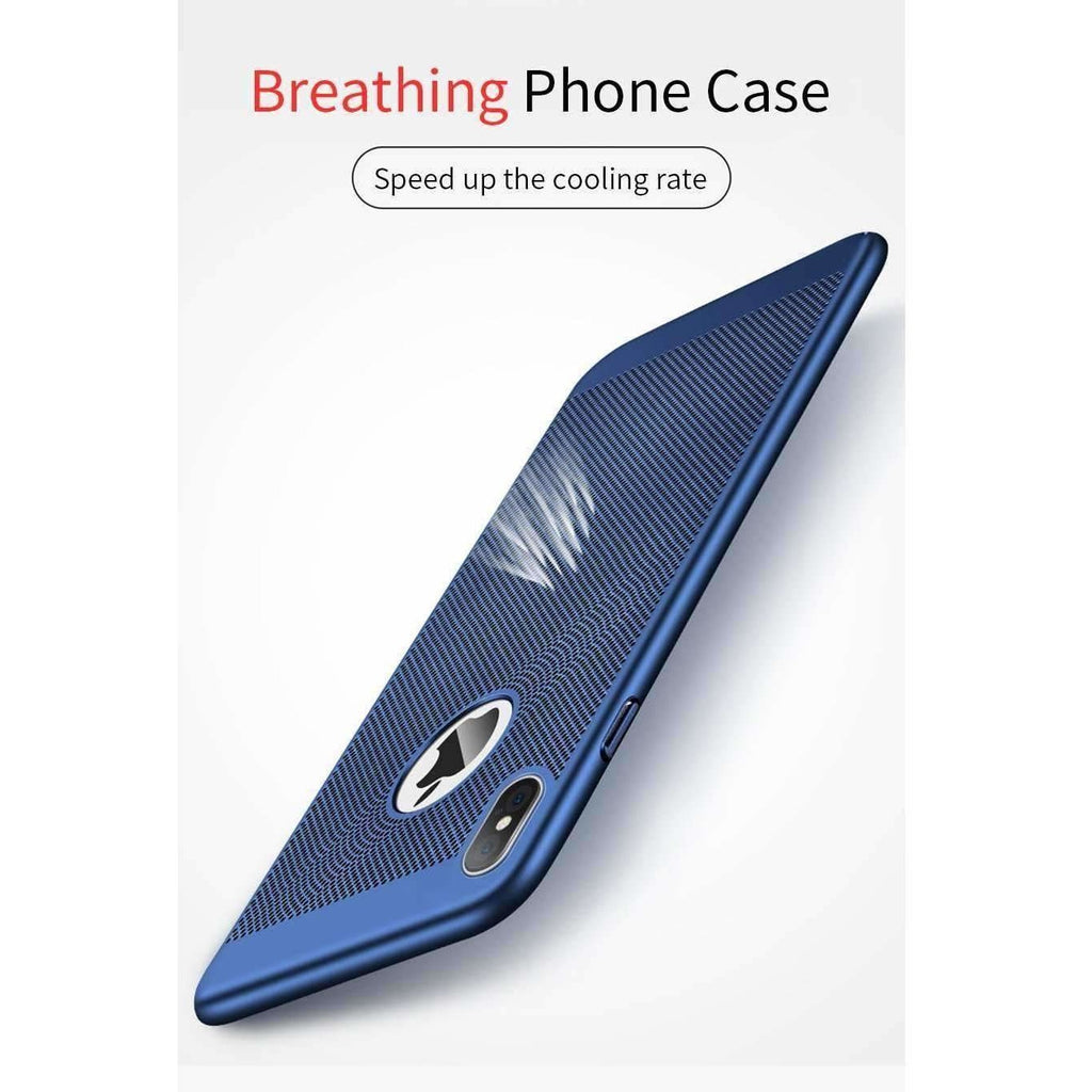 MANTIS Heat Dissipation Phone Hard Back PC Case for iPhone X Full Protective Matte Breathing iPhoneX Cover Breath Phone Bag Case - AMAZOFFER