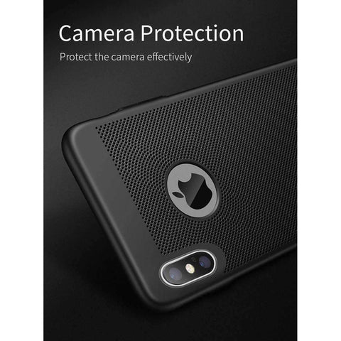Image of MANTIS Heat Dissipation Phone Hard Back PC Case for iPhone X Full Protective Matte Breathing iPhoneX Cover Breath Phone Bag Case - AMAZOFFER