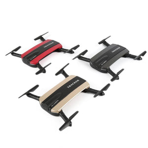 Foldable Selfie Drone Dron Tracker Phone Control Mini Drones with Wifi FPV HD Camera Pocket Helicopter