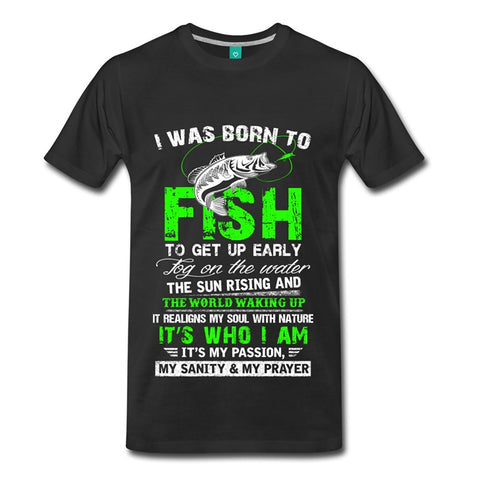 Born To Fish Fishinger Quote Men's Premium T-Shirt - AMAZOFFER