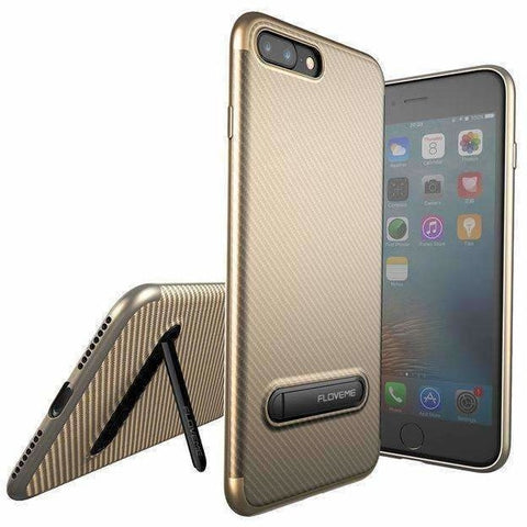 Image of FLOVEME Kickstand Phone Case For iPhone 7 6S 8 Plus X Luxury Mobile Phone Bag Case Soft Silicon Cover For iPhone 7 6S 8 X Case - AMAZOFFER
