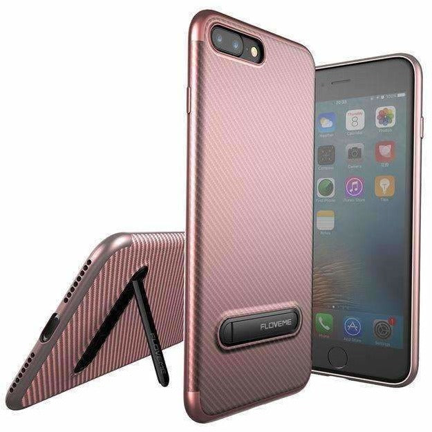 FLOVEME Kickstand Phone Case For iPhone 7 6S 8 Plus X Luxury Mobile Phone Bag Case Soft Silicon Cover For iPhone 7 6S 8 X Case - AMAZOFFER