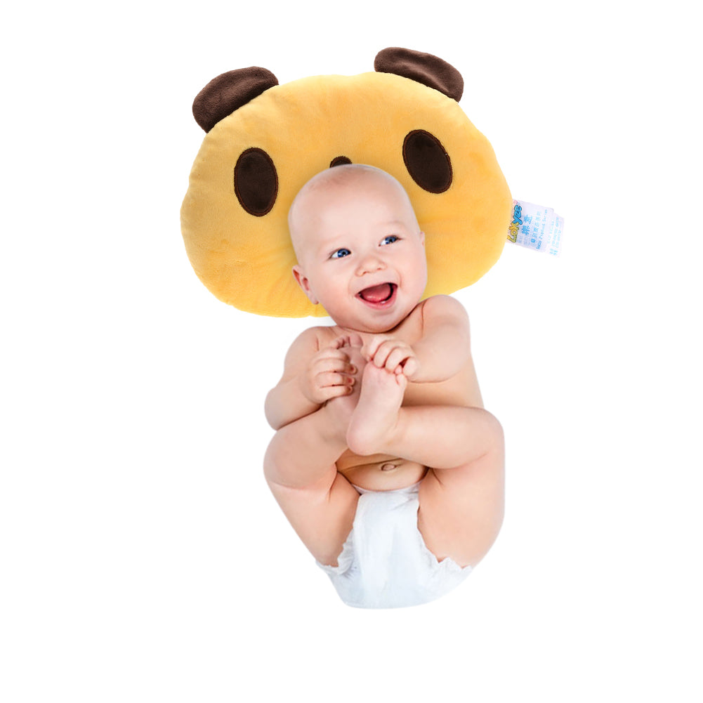 Lovely Panda Shape Baby Pillow Soft Prevent Flat Head Neck Protecting Pillow Baby Infant Cartoon Sleeping Positioner Soft Pillow - AMAZOFFER