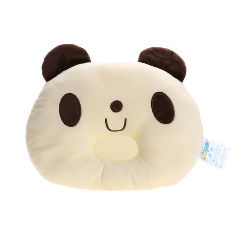 Image of Lovely Panda Shape Baby Pillow Soft Prevent Flat Head Neck Protecting Pillow Baby Infant Cartoon Sleeping Positioner Soft Pillow - AMAZOFFER