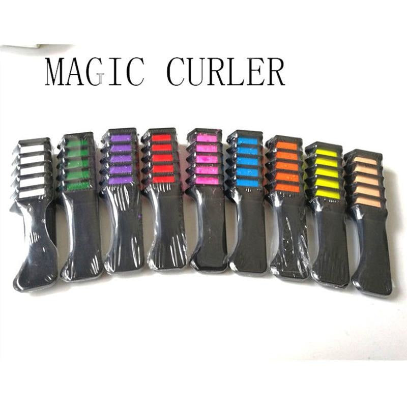 Temporary Hair Chalk Disposable Hairs Color Comb Dye Salon Party Fans Cosplay Kits - AMAZOFFER