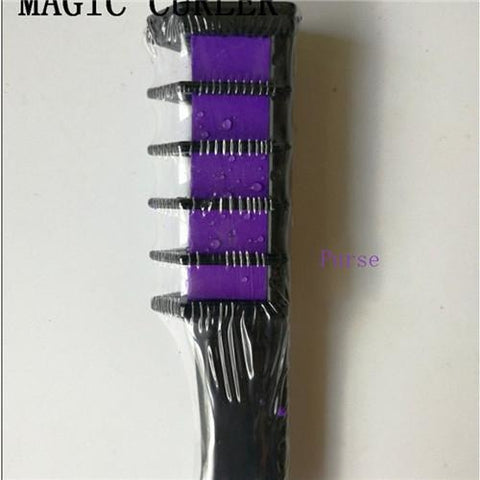 Image of Temporary Hair Chalk Disposable Hairs Color Comb Dye Salon Party Fans Cosplay Kits - AMAZOFFER