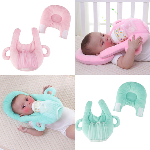 Image of Portable breastfeeding pillow baby nursing pillow pregnant infant case breast feeding cover memory pillow head support neck - AMAZOFFER