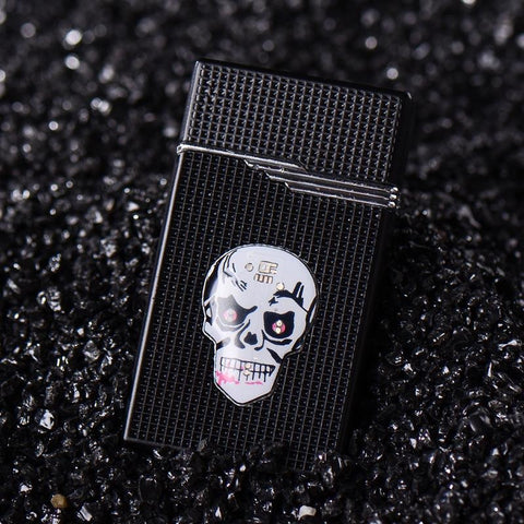 Image of Creative Luminous Skull Head Cigarette Lighter - AMAZOFFER