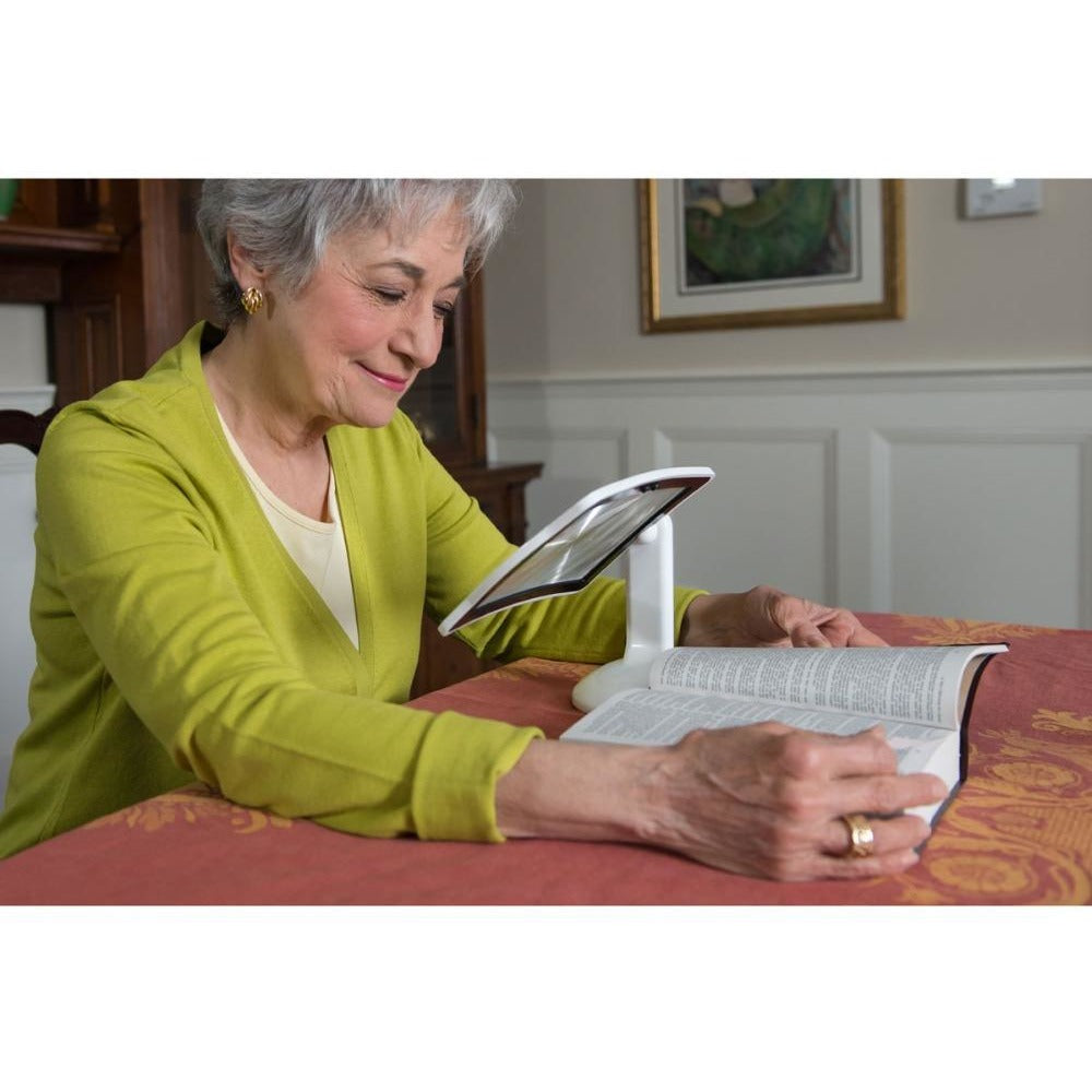 LED Screen Page Magnifier Brighter Reading Viewer Screen Hands-Free  Up To 3X - AMAZOFFER