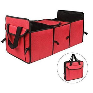 Car Trunk Organizer Bag Travel Storage Bag Food Cooler Box Car Stowing Styling Waterproof Interior Cargo Container