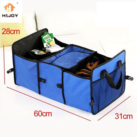 Car Trunk Organizer Bag Travel Storage Bag Food Cooler Box Car Stowing Styling Waterproof Interior Cargo Container - AMAZOFFER