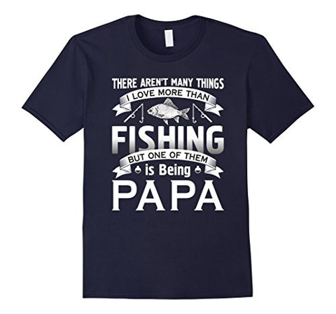 Image of I Love More Than Fishinger Being Papa T-shirt Fisherman - AMAZOFFER