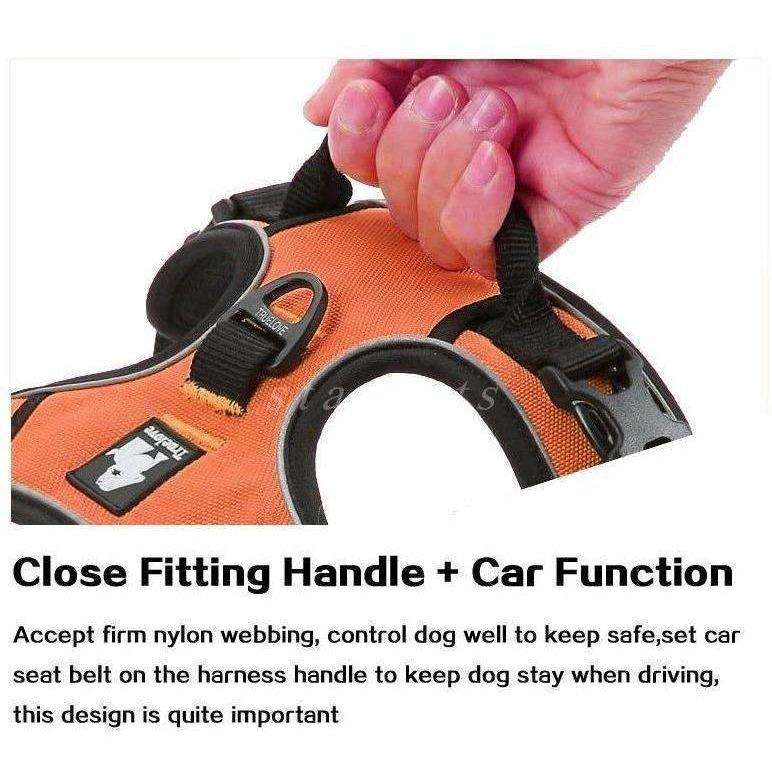 Reflective Large Dog Harness with Handle For Medium Large Breeds XS to XL - AMAZOFFER