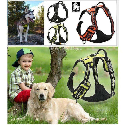 Image of Reflective Large Dog Harness with Handle For Medium Large Breeds XS to XL - AMAZOFFER
