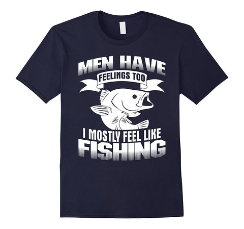 I Mostly Feel Like Fishinger T-Shirt Funny Gift - AMAZOFFER