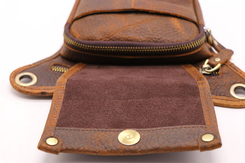 Vintage Genuine Cow Leather Belt Bag Men's Waist Bag Leg Fanny Pack Shoulder BagMobile Phone Camera Tool Kits Organize Bags - AMAZOFFER