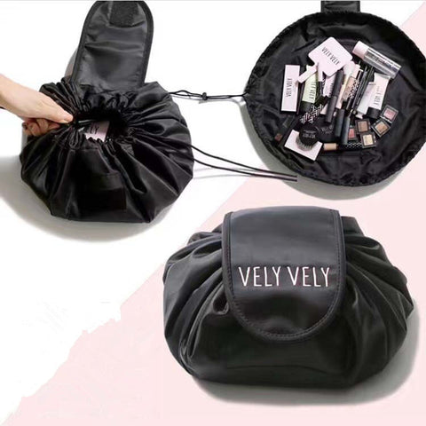cosmetic travel pouch drawstring cosmetic bag women travel storage lady's string packing bag for cosmetic/Toiletries - AMAZOFFER